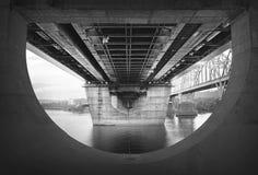 Ponte do aço e do aço imagens de stock royalty free