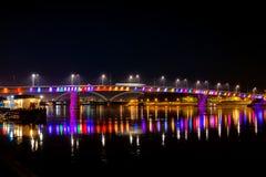 Ponte do arco-íris, Novi Sad, Sérvia imagens de stock