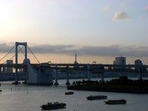 Ponte do arco-íris - Tokyo, Japão imagem de stock