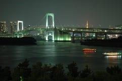Ponte do arco-íris, Tokyo, Japão Fotos de Stock Royalty Free