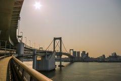 Ponte do arco-íris, Tokyo, Japão Fotografia de Stock