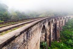 Ponte do arco de Demodara nove da estrada de trilho Fotografia de Stock Royalty Free