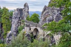 Ponte do bastião em Saxonia perto de Dresden Imagem de Stock