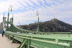 Ponte do bonde em Budapest Foto de Stock