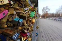 Ponte do cadeado Fotografia de Stock