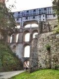 Ponte do castelo de Krumlov do ½ de ÄŒeskà Imagem de Stock Royalty Free