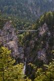 Ponte do castelo de Neuschwanstein fotos de stock