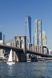 A ponte do centro de New York w Brooklyn Imagem de Stock