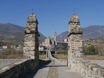 A ponte do diabo em Bobbio foto de stock royalty free
