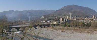 A ponte do diabo em Bobbio imagem de stock royalty free