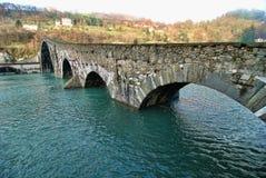 Ponte do diabo, Lucca, Italy Imagens de Stock