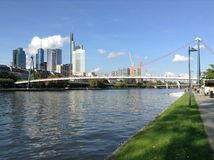 Ponte do ferro de Francoforte Imagens de Stock Royalty Free