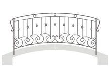 Ponte do ferro forjado do vetor ilustração royalty free