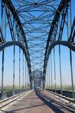 Ponte do ferro no rio Po Imagens de Stock Royalty Free