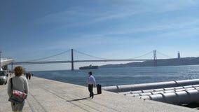 Ponte do Gama de Vasco a Dinamarca no crepúsculo Fotografia de Stock Royalty Free