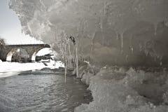 Ponte do gelo fotografia de stock