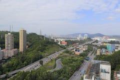 A ponte do haicang e a ponte aproximam-se, cidade amoy, porcelana Imagem de Stock Royalty Free