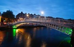 Ponte do Half-penny fotografia de stock