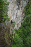 Ponte do Inca em Machu Picchu no Peru Fotos de Stock