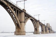 Ponte do inverno imagem de stock