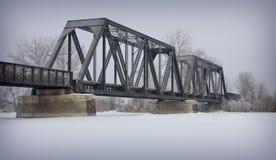 Ponte do inverno Imagem de Stock Royalty Free