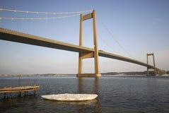 Ponte do inverno da suspensão Imagem de Stock Royalty Free