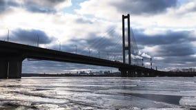 A ponte do inverno nubla-se o lapso de tempo da noite filme