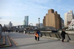 Ponte do jardim de Shanghai imagens de stock royalty free