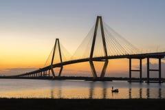 Ponte do Jr Ponte no crepúsculo Imagem de Stock