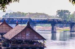 A ponte do kwai do rio Fotos de Stock Royalty Free