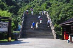 Ponte do leste Shaoxing China de Lanyue do lago imagens de stock