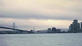 Ponte do louro de San Francisco Oakland video estoque
