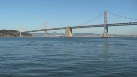 Ponte do louro de San Francisco-Oakland na noite filme