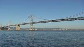 Ponte do louro de San Francisco-Oakland na noite video estoque