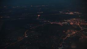 Ponte do louro em San Francisco, CA Luzes da rua Vista do indicador do avião filme