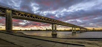 Ponte do metro em Nizhny Novgorod Imagem de Stock Royalty Free