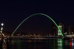 Ponte do milênio de Gateshead Foto de Stock Royalty Free