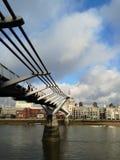 Ponte do milênio e catedral de St Paul Fotografia de Stock