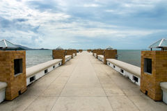 Ponte do molhe Foto de Stock