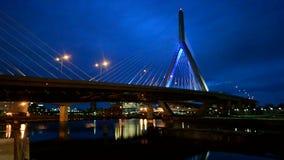 Ponte do monte de depósito de Leonard P Ponte memorável do monte de depósito de Zakim, Boston, EUA, vídeos de arquivo