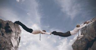 Ponte do negócio. Conceito da parceria