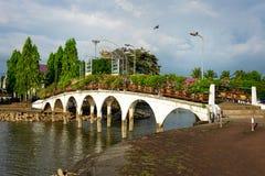 Ponte do parque, Chanthaburi imagens de stock