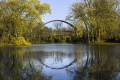Ponte do parque de Tenney Imagem de Stock Royalty Free