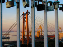 Ponte do por do sol Foto de Stock Royalty Free