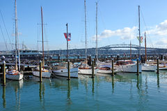Ponte do porto de Auckland em Auckland Nova Zelândia Foto de Stock