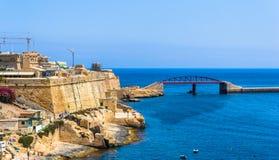 Ponte do quebra-mar Fotos de Stock Royalty Free