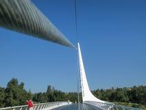 Ponte do relógio de sol, Redding, Califórnia Imagens de Stock