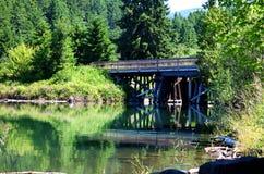 Ponte do reservatório de Dorena imagens de stock