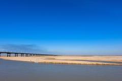 A ponte do Rio Amarelo Fotos de Stock