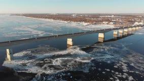 Ponte do rio de Kama video estoque